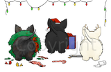 Nothin' Butt A Scottish Terrier Christmas Greeting Cards