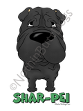 Big Nose Shar-Pei Dark Colored T-shirts
