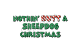 Sheepdog Santa Butt Greeting Cards