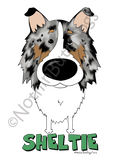 Big Nose Shetland Sheepdog Dark Colored T-shirts