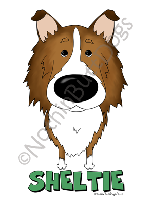 Big Nose Shetland Sheepdog Light Colored T-shirts