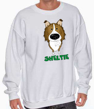 big nose sheltie sweatshirt