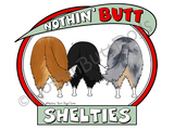 Nothin' Butt Shelties Light Colored T-shirts