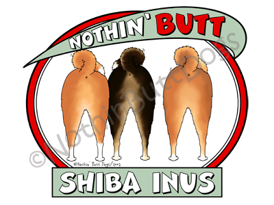 Nothin' Butt Shiba Inus Dark Colored T-shirts