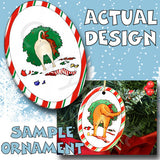 Chihuahua Wreath Christmas Ornament