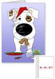 Short Haired Jack Russell Terrier Santa's Cookies Greeting Cards