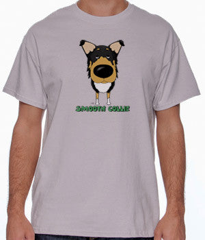 Big Nose Tri Smooth Collie Shirts - More Styles and Colors Available