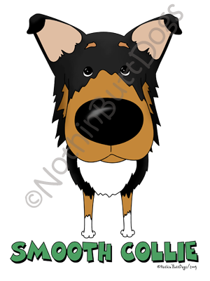 Big Nose Smooth Collie Dark Colored T-shirts