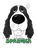 Big Nose English Springer Spaniel Light Colored T-shirts