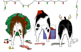 Nothin' Butt A Springer Christmas Greeting Cards