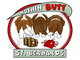 Nothin' Butt St. Bernards Dark Colored T-shirts