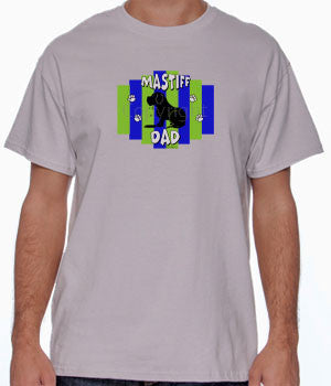 Mastiff Dad Green/Blue Stripe Shirts - More Styles and Colors Available