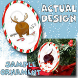 Dachshund Antler Christmas Ornament