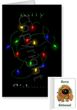 Dachshund Merry Christmas Lights Greeting Cards
