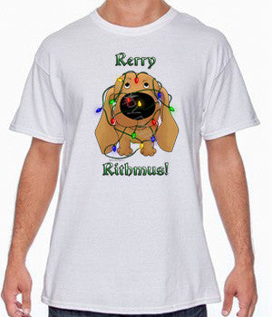 Tan Dachshund Rerry Rithmus Shirts - More Styles and Colors Available