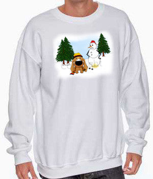 Dachshund Snowman White Shirts - More Styles Available