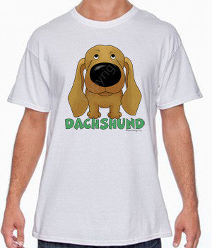 big nose dachshund tshirt