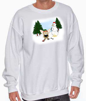 Chihuahua Snowman White Shirts - More Styles Available