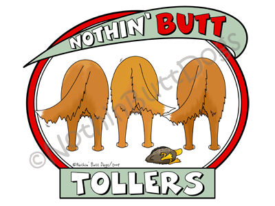 Nothin' Butt Tollers Dark Colored T-shirts