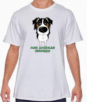Big Nose Tri Miniature American Shepherd Shirts - More Styles and Colors Available