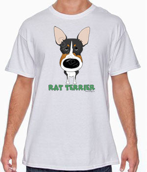 Big Nose Rat Terrier (Tri) Shirts - More Styles and Colors Available