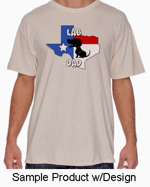 Texas Dad Tshirt Natural Colored (10+ Breeds Available)