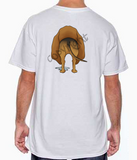 Bloodhound Butt White T-shirt
