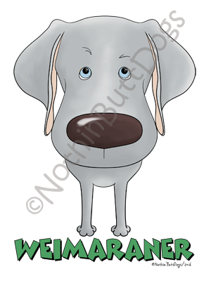 Big Nose Weimaraner Dark Colored T-shirts