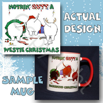 Westie butt christmas coffee mug