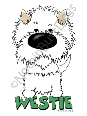 Big Nose West Highland White Terrier Light Colored T-shirts