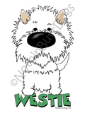 Big Nose West Highland White Terrier Dark Colored T-shirts