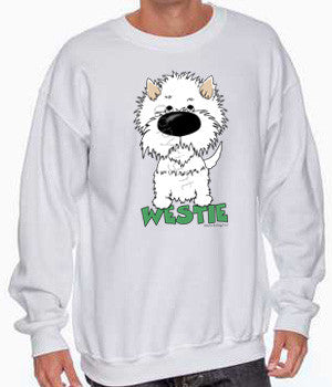 big nose westie sweatshirt