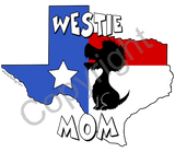 Texas Mom Sticker - (5 Dog Breeds Available)