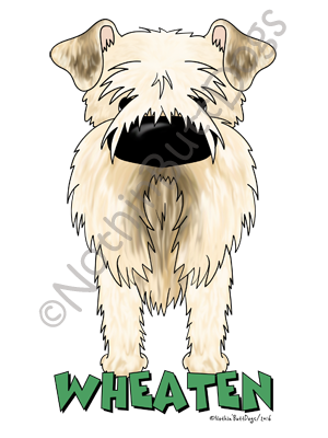 Big Nose Soft Coated Wheaten Terrier Dark Colored T-shirts