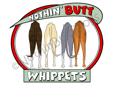 Nothin' Butt Whippets Dark Colored T-shirts
