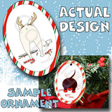 French Bulldog Antler Christmas Ornament