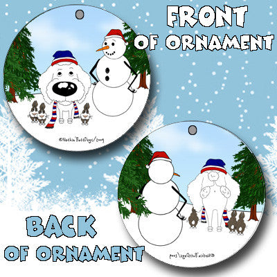 Poodle Snowman Christmas Ornament