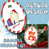 Pug Santa Hat Christmas Ornament