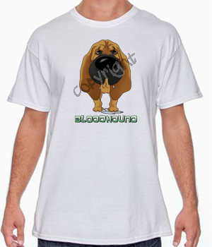 Big Nose Bloodhound White T-shirt