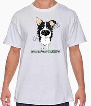 Big Nose Border Collie White T-shirt