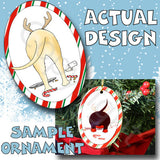 Yellow Lab Antler Christmas Ornament