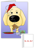 Yellow Labrador Retriever Santa's Cookies Greeting Cards