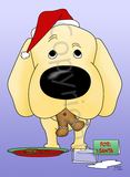 Labrador Retriever Santa's Cookies Greeting Cards