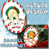 Yellow Lab Wreath Christmas Ornament