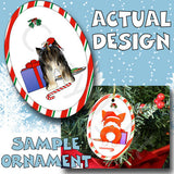 Yorkie Santa Hat Christmas Ornament