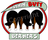 Nothin' Butt White Tshirt (70+ Breeds Available) Basenji - Bull Terrier Section