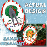 Greyhound Wreath Christmas Ornament
