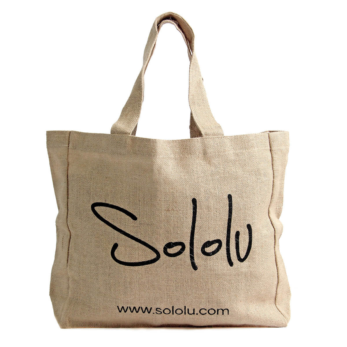 An Ethical, Seasonless Clothing Collection for Women on the Go - Sololu Jute Tote Bag, Sololu