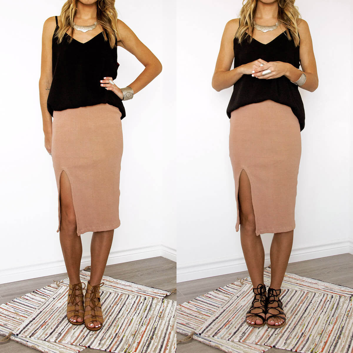 An Ethical, Seasonless Clothing Collection for Women on the Go - Sedona Midi Pencil Skirt, Sololu