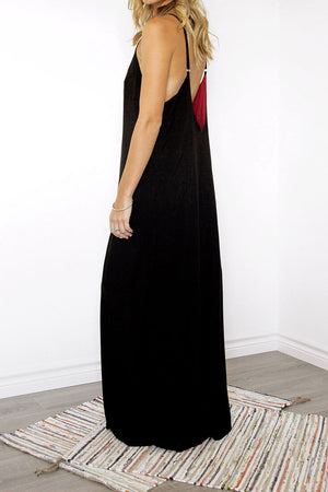 Mérida Reversible Maxi Dress Low Back - Sololu